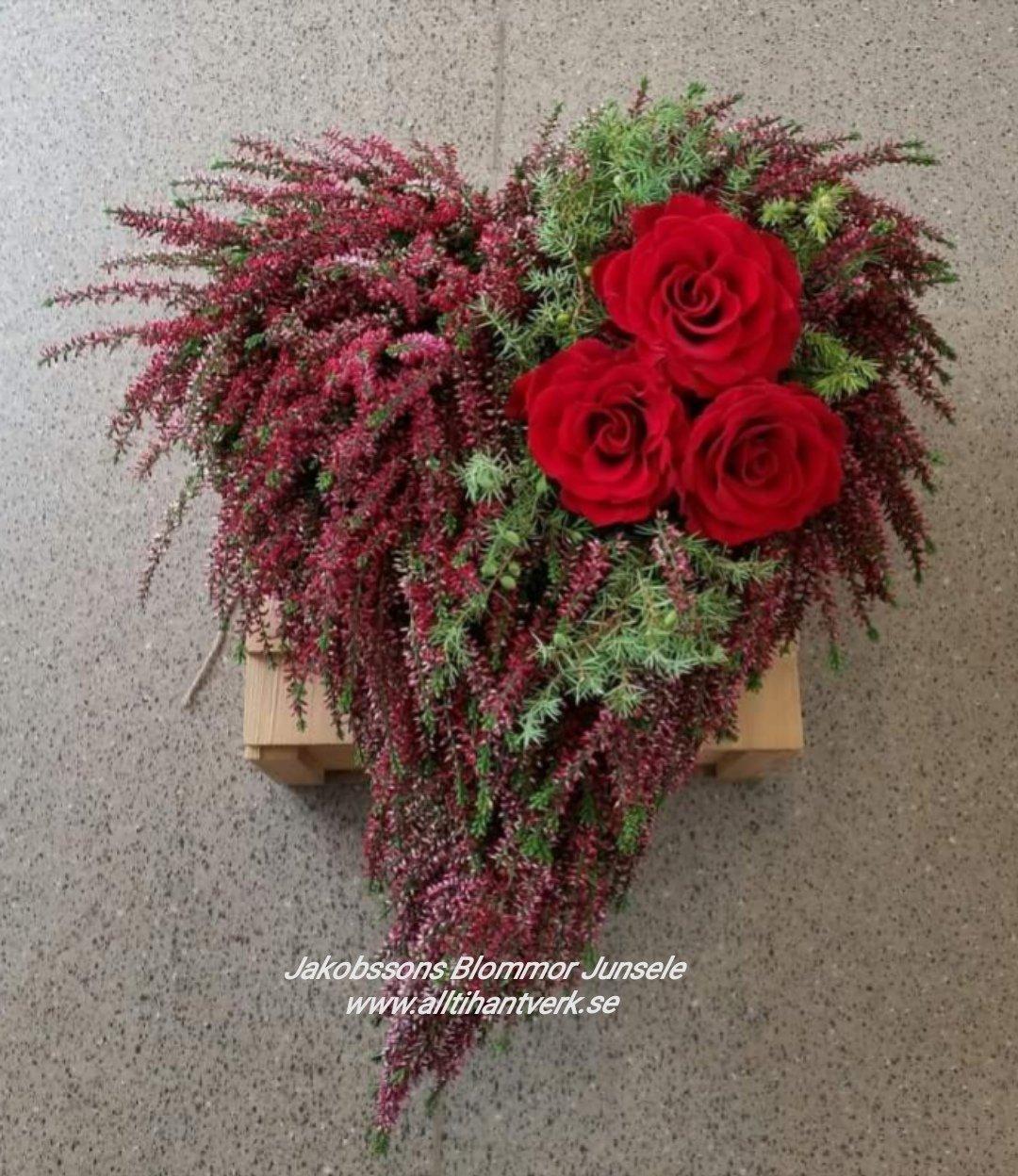 Hjärta ljung rosor